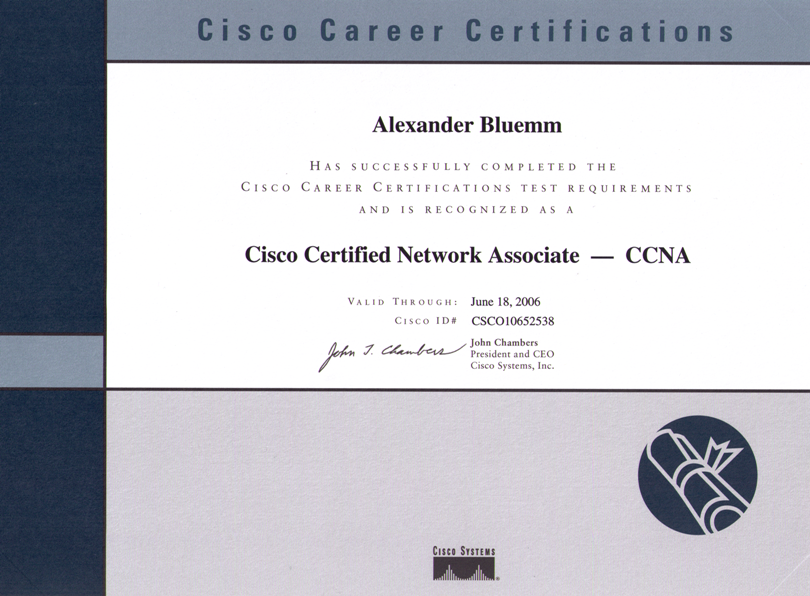CCNA - Cisco Certified Network Administrator | Computer Consulting Blümm